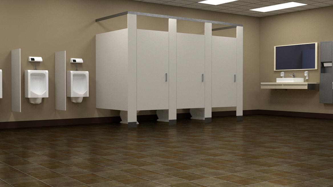 digital rendering of a public restroom